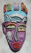 Maske Picasso in Peru (3) lila